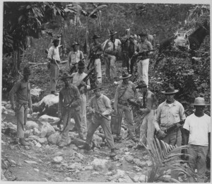 U.S._Marines_and_guide_in_search_of_bandits._Haiti,_circa_1919.,_1927_-_1981_-_NARA_-_532584.tif